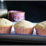 adzuki bean jam milk muffins
