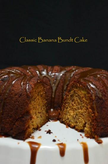 Classic Banana Bundt Cake Drizzle 2