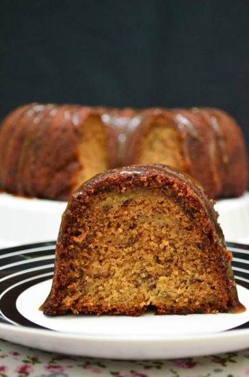 Classic Banana Bundt Cake Sliced