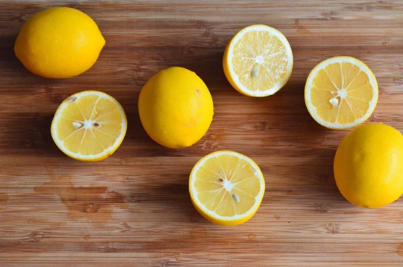 cut meyer lemons