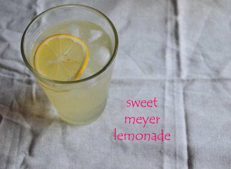 sweet meyer lemonade