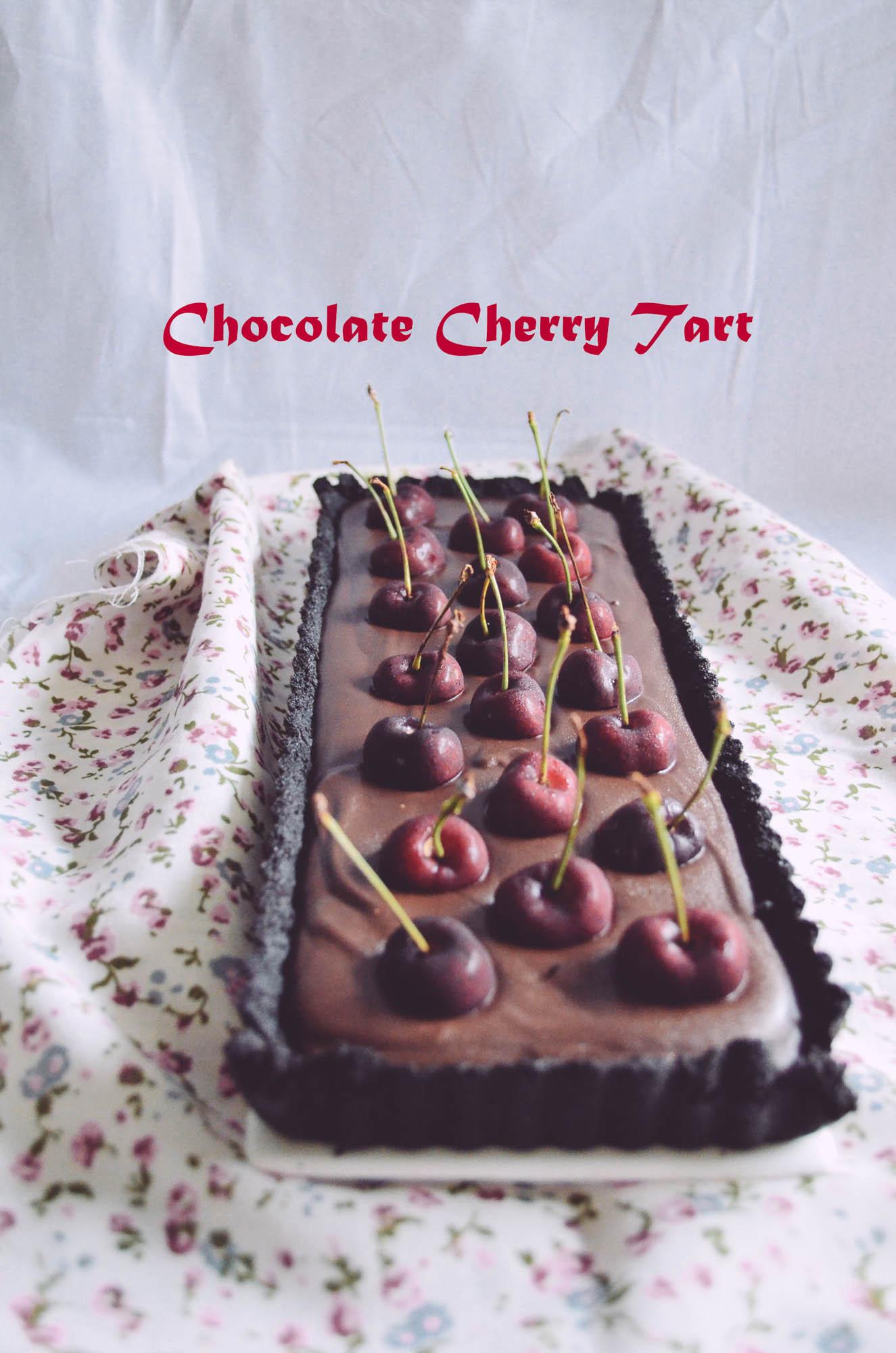 choc cherry tart-3